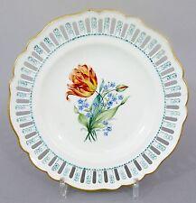 Meissen Teller mit Durchbruchrand, Blumen Dekor, Marcolini 1774-1814 #2