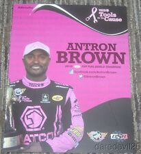 "2015 Antron Brown Matco Tools ""Pink"" Top Fuel NHRA postcard"