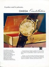 1958 Omega Constellation Watch Advert Omega Seamaster Vintage 1950s Print Ad