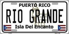 RIO GRANDE Puerto Rico Novelty State Background Metal License Plate