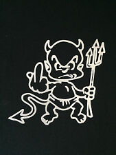 Devil Boy in white Auto Car Van Truck Vinyl Graphics Removable Decal Sticker