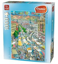 1000 Piece Comic Style Jigsaw Puzzle El Rastro Madrid Spain 05088