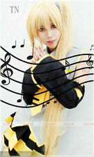 Vocaloid Akita Neru Yellow Cosplay Wig  1 ponytail 1.2 M Anime Wig