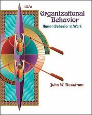 Organizational Behavior : Human Behavior at Work by John W. Newstrom (2010,...