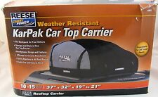 Reese Carry Power  KarPak Car Top Carrier The Backpack for Your Vehicle