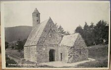 Irish Postcard ST KEVIN'S Church GLENDALOUGH Wicklow Ireland Kitchen B&W Litho