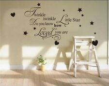 Twinkle Twinkle Little Star Wall Art Sticker Quote Decal Kids Childrens Decor UK