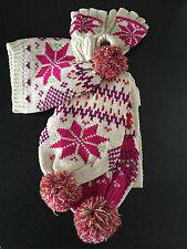 BNWT Ladies/Teenage Girls BHS Brand Chunky Knit Beanie Gloves Scarf Set One Size