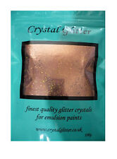 Crystal Glitter for emulsion wall paint, ROSE GOLD + golden holographic crystals