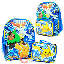 Pokemon XY Pika Pop Large Backpack with Detachable Lunch Bag Combo