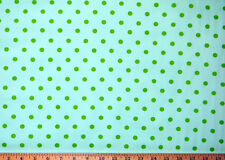 "Green Dots Pima Cotton Robert Kaufman Pimatex Basics Willow 44"" wide New"