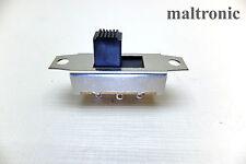 Schiebeschalter - 6 Pins; 2x UM; Silber/Messig Gehäuse; 3A/150V