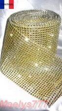 **1Mx4cm . RUBAN STRASS doré** .décoration mariage, chemin de table, .