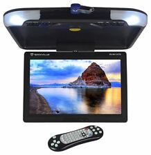"Rockville RVM13FD-BK 13"" TFT Black Flip Down Car Monitor w/ USB/SD/Video Games"