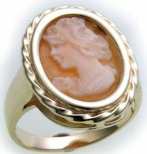 Damen Ring m. Muschelgemme in Silber 925 Gemmenring Sterlingsilber Muschelkamee