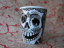 Catrina Skeleton Black and White Sublimated Ceramic Shot Glass