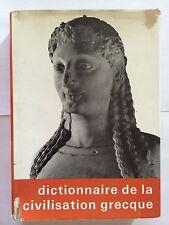 DICTIONNAIRE DE LA CIVILISATION GRECQUE 1966  HAZAN