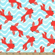 Koi Gold Fish  Cotton Flannel Quilter  Comfy Soft Fabric  BFab