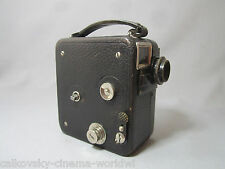 COLLECTOR'S 1930's PATHE MOVIE CAMERA HUGO MEYER KINO PLASMAT 2cm LENS HEAVY!