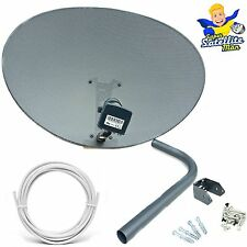 Sky 80cm Zone 2 Freesat Satellite Dish & MK4 Quad LNB + 5m White Single RG6 Kit