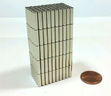 "10 Neodymium Cylinder Disc Magnets. Super strong N52 Rare Earth 1/2"" × 1/8"""