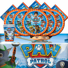 Paw Patrol Rescue Pet Children Birthday Complete Party Tableware Pack Kit For 16