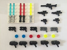 Ultimate LEGO Star Wars Minifigure Weapons Lot - Lightsabers & Blasters