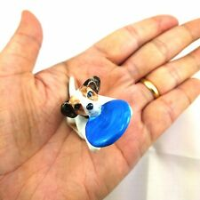 Lovely Jack Russell Terrier Parson Puppy Dog Ceramic Miniature Figurine Collec