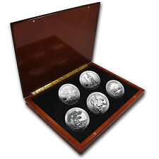2013 5 oz Silver ATB 5 Coin Set in Elegant Display Box - SKU #79732