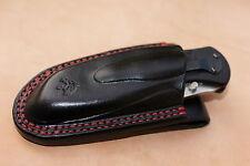 Leather pancake sheath pouch for Kershaw Blur