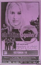 CHRISTINA AGUILERA/DESTINY'S CHILD 2000 SAN DIEGO TOUR POSTER-Beyonce, Pop Music
