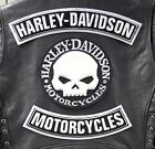 Set Kit 3 Toppe Patch Skull Willie G.Grande Harley Davidson Gilet Giubbotto XL