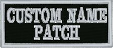 2 line Name Tag Motorcycle Biker Patch