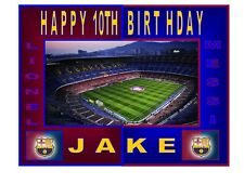 "Barcelona Football Stadium's Personalised A4 Icing Sheet 10""x8"" Cake Topper"