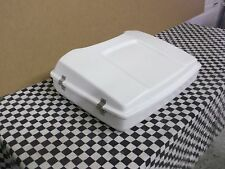 Tour Pack Razor fits Harley Bagger White  Hinged and Latched