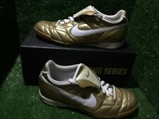 NIKE TIEMPO Indoor R10 RONALDINHO GOLD T90 CTR360 SOCCER SHOES RARE 9,5 10,5 44