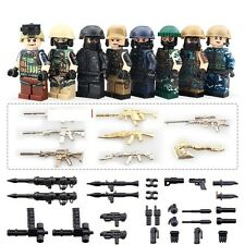 8 Pcs Military Mini Figures NEW UK Seller Fits Lego Army Soldiers Armed Force