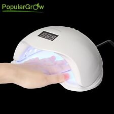 Populargrow 48W UV LED Nail Lamp Gel Polish Nail Care Dryer Light with Timer