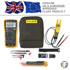 Fluke 117 True RMS Multimeter + T5-600 + TPAK3 + 1AC + C115 Case (FLU-K-CS6)