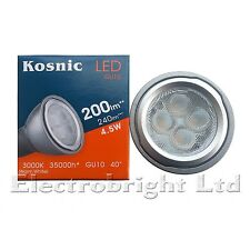 10x Kosnic Pro 4.5w watt LED GU10 Power Warm White Superbright spot bulb 240lm