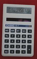 Calculadora Casio HS-7: 8 dígitos Solar/Batería Celular-Caja completa de trabajo condición/