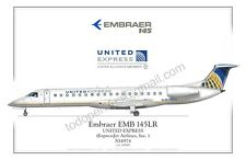 Embraer 145 - United- Poster Profile