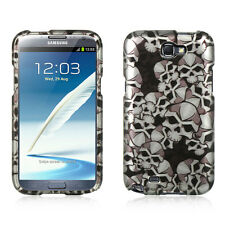 Black Skull Design Snap-On Hard Case Cover for Samsung Galaxy Note 2