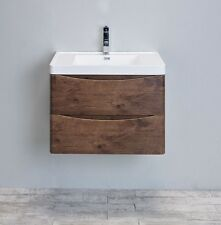 "EVIVA 24"" SMILE SINGLE SINK BATHROOM VANITY IN ROSEWOOD EVVN600-24RSWD-WM"