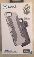 Genuine Speck-Grip iPhone 7 Cover Custodia RESISTENTE-BIANCO GOCCIA Testato