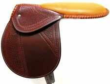D.A. Brand Fancy Tooled Cherry Leather Racing Exercise Saddle Horse Tack Equine