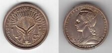 FRENCH SOMALILAND - UNC 1 FRANC COIN 1948 YEAR KM#E1 ESSAI SHIP