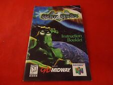 War Gods Nintendo 64 N64 Instruction Manual Booklet ONLY Wargods