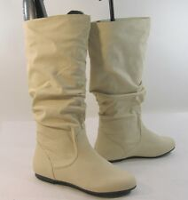 ivory   flat slouch comfortable  sexy knee  boot   Size...   5.5