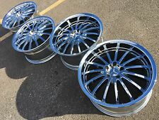 "19"" MANDRUS MILLENIUM E S MERCEDES WHEELS RIMS 5X112 WORK SSR VOLK CHROME TSW"
